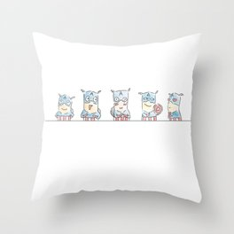 Captain A-Joy! Throw Pillow