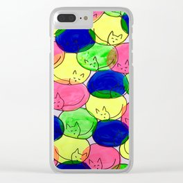 Kitty cuddles Clear iPhone Case