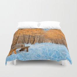 Burning Ice Forest Trail Duvet Cover