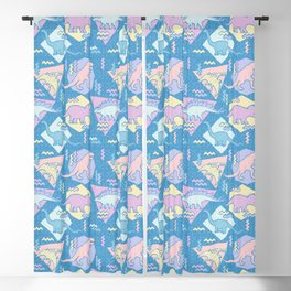 Nineties Dinosaurs Pattern  - Pastel version Blackout Curtain