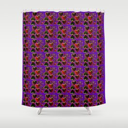 Hearts on fire Shower Curtain