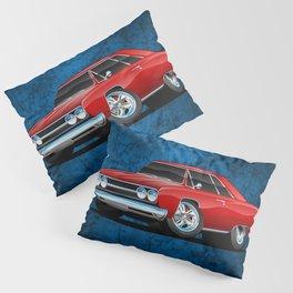 Classic Muscle Car Cartoon Pillow Sham