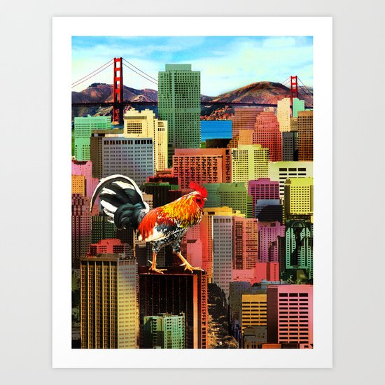 San Francisco City Chicken Art Print