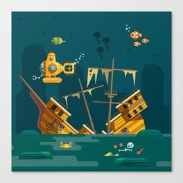 Looking for underwater treasure Canvas Print