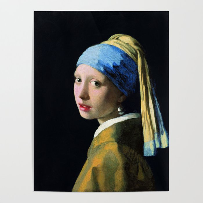 Jan Vermeer Girl With A Pearl Earring Baroque Art Poster By Artgallery