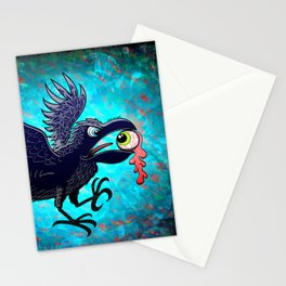 Crow Stealing an Eye Stationery Cards