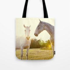 Two Horses Fine Art Photography Tote Bag