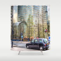 "taxi driver Shower Curtains featuring  "" Taxi "" !!! by David Pyatt"