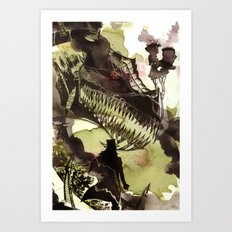 Steampunk Dragon Art Print