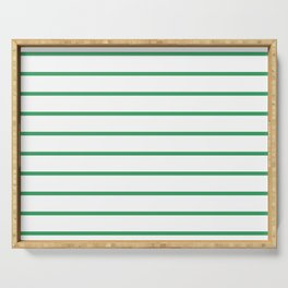 Kelly Green Breton Stripes Serving Tray