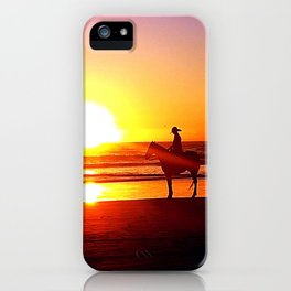 Riding on the Beach iPhone Case