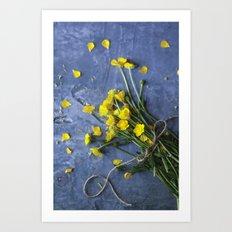 Buttercup Bouquet - Yellow  Art Print
