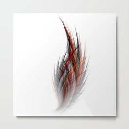 Fractal Feather Metal Print