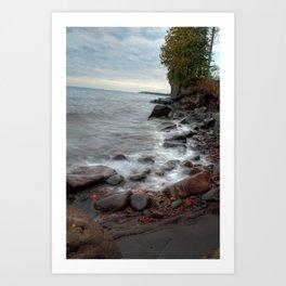 Waves on Lake Superior Art Print