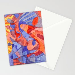 Red Doodle Stationery Cards
