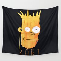 simpson Wall Tapestries featuring Bort  by Robert Payton