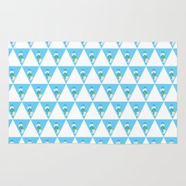 Swimming Polar Bear Triangle Rug