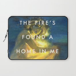 Woman Clothed with the Yellow Flicker Beat Laptop Sleeve