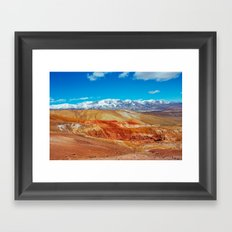 Altai Mountains Valley, Kizil-chin Framed Art Print
