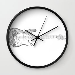 FRS 1956, Stratocaster electric guitar, NYC Artist Wall Clock