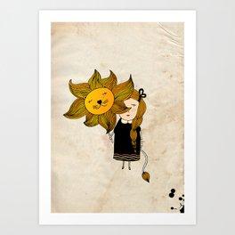Leo Girl Art Print