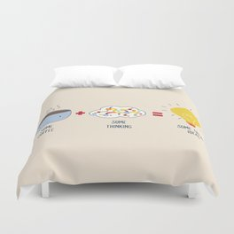 Some Coffee + Some Thinking = Some Great Ideas Duvet Cover