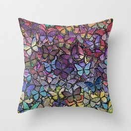 butterfly fantasia Throw Pillow