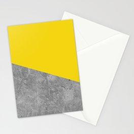 Geometry 101 Vivid Yellow Stationery Cards