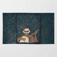 banjo Area & Throw Rugs featuring Banjo by Aquamarine Studio