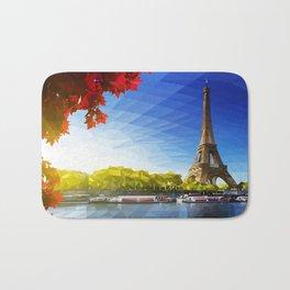 The Pinnacle of Light - Eiffel Tower & River Seine - Paris Bath Mat
