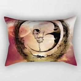 Dancing on the moon Rectangular Pillow