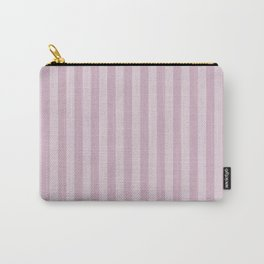 Simple grey pink stripes . Carry-All Pouch