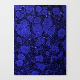 Tova - abstract art for home decor dorm college office minimal navy indigo blue Canvas Print