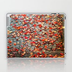 Red Leaves, Grey Stones Laptop & iPad Skin