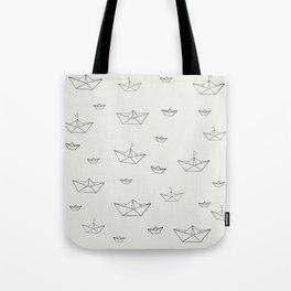 Paper ships Tote Bag