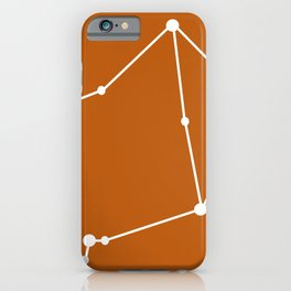 Libra (White & Bronze) iPhone Case