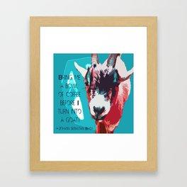 Goatee Framed Art Print