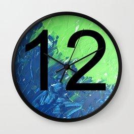 Blue & Green, 12, No. 2 Wall Clock