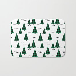 Christmas Tree forest plaid camping triangle geometric minimal festive holiday Bath Mat