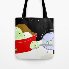 Macaroon Cat w/ Ice Cream Tote Bag
