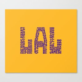 Los Angeles - LAL - 2019 - 2020 Canvas Print