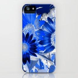 3 Blue Sunflowers iPhone Case