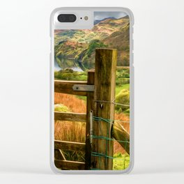 Valley Gate Snowdonia Clear iPhone Case