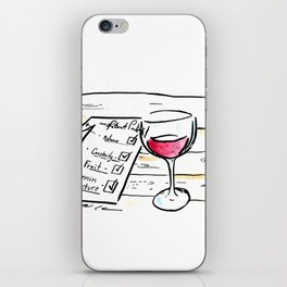 """Somm into the bottle chapter 7 """"The point scores"""" iPhone Skin"""