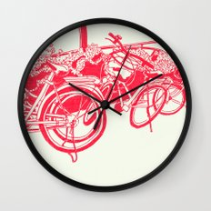 On Paper: Tokyo Bicycles Wall Clock