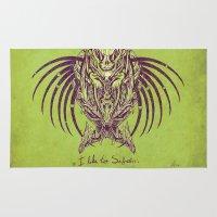 predator Area & Throw Rugs featuring predator by alex leeman