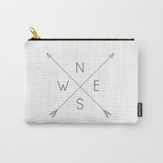 Geometric Minimal Compass Carry-All Pouch