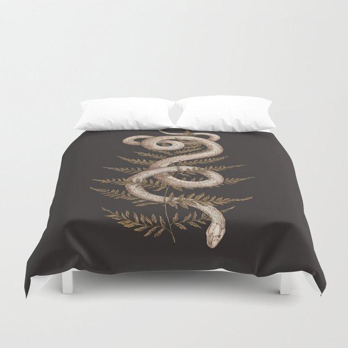 The Snake and Fern Duvet Cover