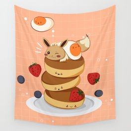 Stacking Pancakes  Wall Tapestry