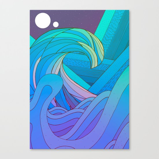 The Many Waves Canvas Print